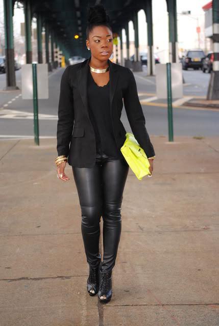 all black wardrobe statement pieces