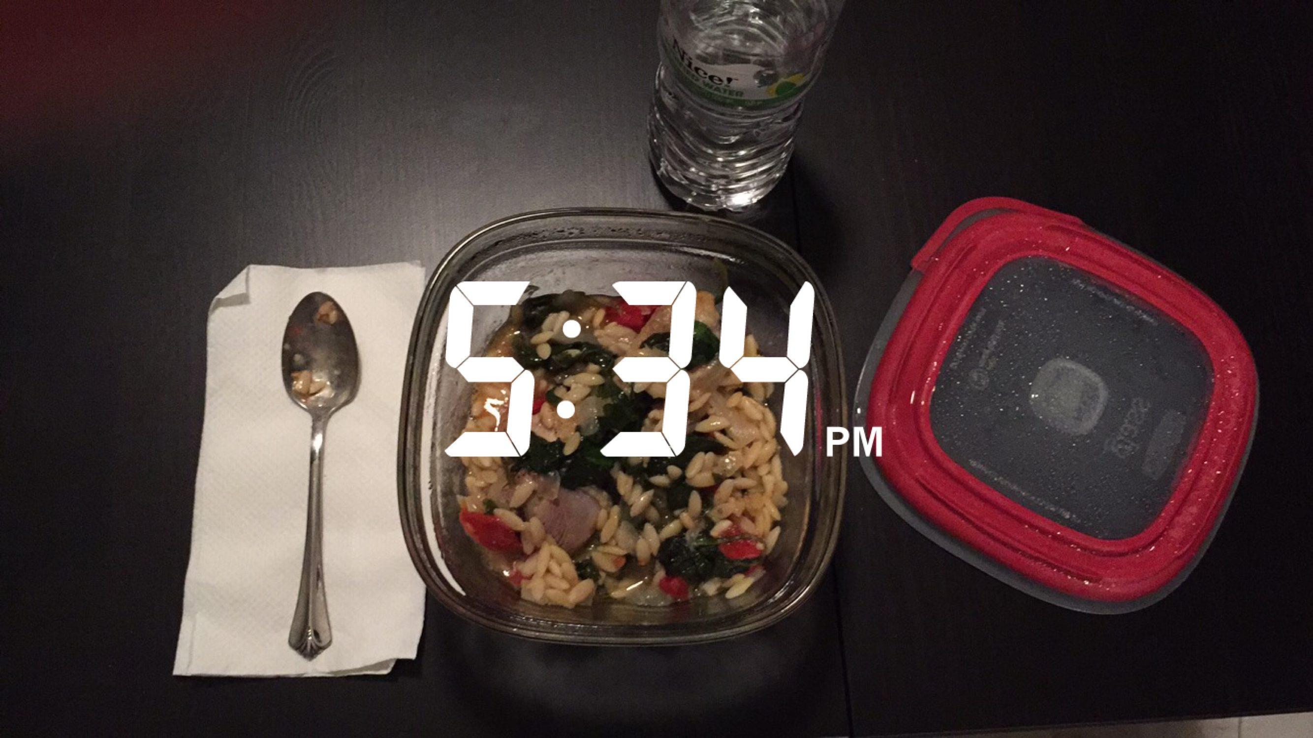 Snapchat day dinner