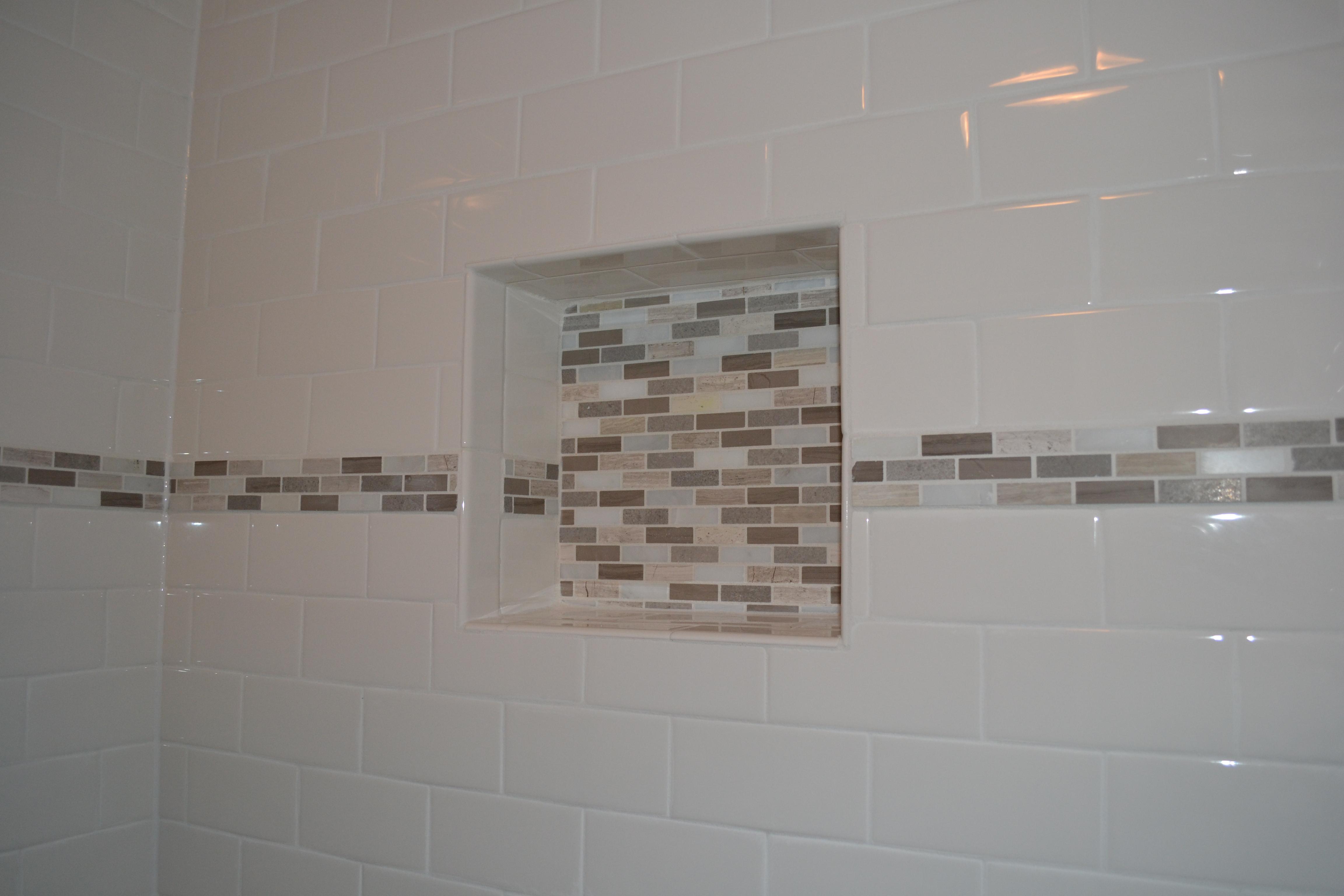 master bathroom remodel niche