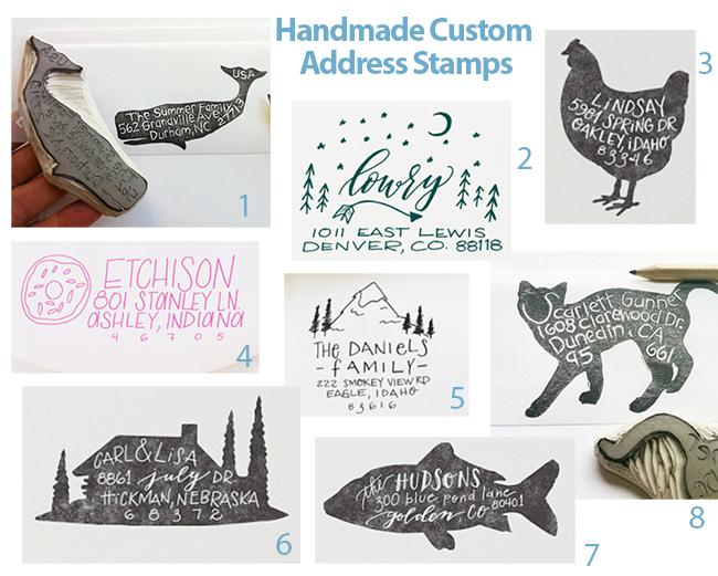 handmadecustomaddressstampsetsy