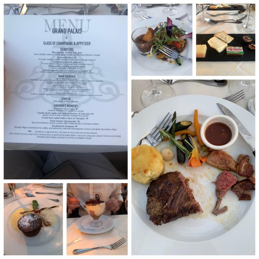 le calife dinner cruise menu